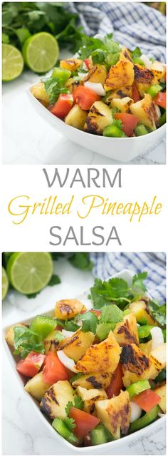 Paleo Warm Grilled Pineapple Salsa from WhittyPaleo.com