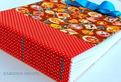 eyeletted red longstitch book