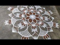 Rangoli Designs Latest, Simple Rangoli Designs Images, Rangoli Designs Flower, Rangoli Border Designs, Rangoli Designs With Dots, Rangoli With Dots, Beautiful Rangoli Designs, Kolam Designs, Free Hand Rangoli Design