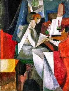 Albert Gleizes - Woman at the Piano, 1914 Amairani Aguilar Georges Braque, Pablo Picasso, Cubist Art, Piano Art, Francis Picabia, Rene Magritte, Social Art, Philadelphia Museum Of Art, European Paintings