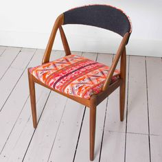 Huanca Chair- 1960's Danish Design by Kai Kristiansen with Handwoven Peruvian Tribal Textile Upholstery on Etsy, $601.25