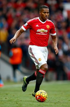 Antonio Valencia of Manchester United during the Barclays Premier League match between Manchester United and Manchester City at Old Trafford on October 25, 2015 in Manchester, England. (Oct. 24, 2015 - Source: Clive Rose/Getty Images Europe)