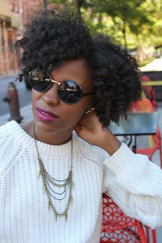 A twist out. To learn how to grow your hair longer click here - http://blackhair.cc/1jSY2ux