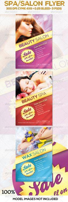 Salon / Spa Flyer in 3 Colors - GraphicRiver Item for Sale