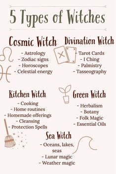 5 Types Of Witches - Wicca And Witchcraft Beginners Guide. What type of witch are you? - Witch is divided into 3 basic types of witches: white witch, black witch, and gray witch.