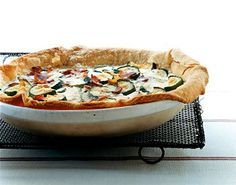 zucchini, bacon, cheese quiche recipe via it's jou life blog…