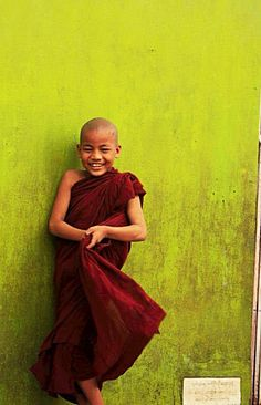 Young monk in Yangon, Myanmar