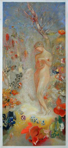 Pandora - Odilon Redon Paintings