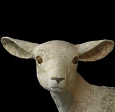 Susan O'Byrne Ceramic Animal Art - Lamb