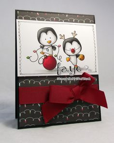 Stampin Fluffnstuff: Holiday Penguins