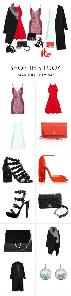 """""""Outfit color"""" by audrey-balt ❤ liked on Polyvore featuring Alex Perry, Cushnie Et Ochs, Carven, Akris, Laurence Dacade, Christian Louboutin, Louis Vuitton, Chloé, Yves Salomon and Non"""