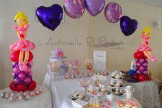 Table dessert, ballon ballet party http://antonelladipietro.com.ar/blog/2012/08/cumple-para-una-bailarina/