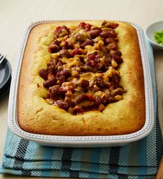 Beefy chili and homey cornbread team up in this crowd-pleasing casserole. Add a side of fresh fruit and mixed-green salad for a complete, balanced meal everyone will love!