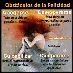 Obstáculos de la felicidad.