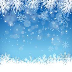 Blue Snowflake Background - Illustration Stock Vector - Illustration of december, focus: 34544391