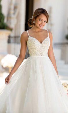 Courtesy of Stella York Wedding Dress Collection from Essense of Australia; Wedding dress idea.