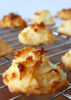 Delicious recipe for coconut macaroons. Solves the problem of how to avoid runny macaroons. My favorite gluten free cookies! #GF