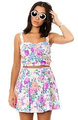 Reverse The Floral Two Piece