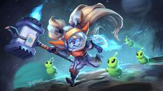 Poppy League, League Of Legends Poppy, Riot Games, Lol, Poppies, Hero, Manga, Drawings, Draw
