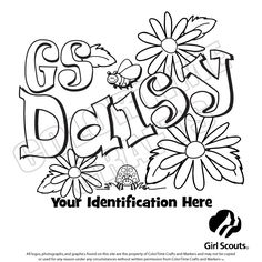 I am a Daisy Scout Coloring Page from TwistyNoodle.com