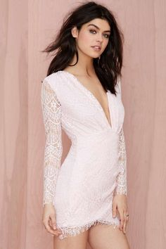 Reverse Havana Lace Dress - Pink - Body-Con | Going Out | Reverse | Dresses | Clothes | All