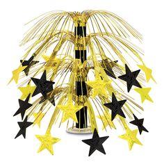 Star Cascade Centerpiece black & gold (6ct)