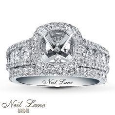 Neil Lane Bridal Setting 1 1/2 ct tw Diamonds 14K White Gold