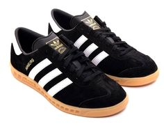Adidas has finally released a Hamburg in Black suede with White leather trim and gum sole. This classic colourway can now be had in everything from a Samba to a Spezial to Hamburg Adidas Spezial, Adidas Casual Shoes, Adidas Sneakers, White Leather, Black Suede, Me Too Shoes, Men's Shoes, Adidas Og, Football Casuals