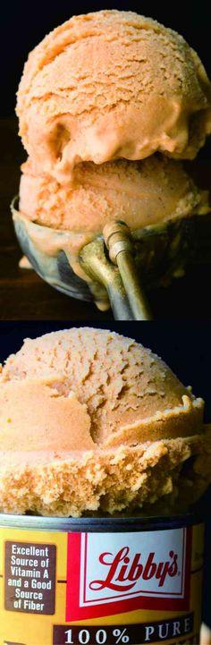 cinnamon, dessert, ginger, ice cream, nutmeg, pie, pumpkin, recipes