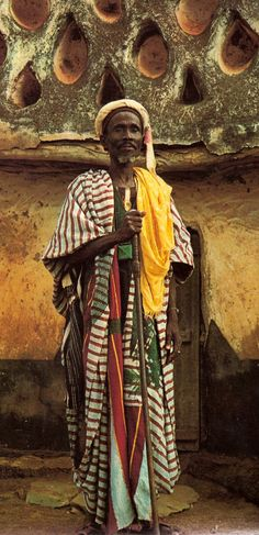 "Africa | Liman (""keeper"") of Larabanga Mosque, Ghana.  