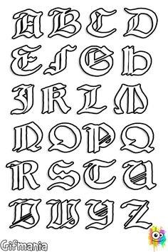 Medieval letters coloring page Tattoo Fonts Alphabet, Hand Lettering Alphabet, Calligraphy Alphabet, Graffiti Writing, Graffiti Lettering, Medieval Banner, Viking Party, Coloring Letters, Fancy Letters