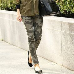 Olivia Palermo in Camo courtesy of  PopSugar