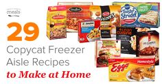 Copycat freezer aisle recipes allow you convenience without the high price tag of packaged frozen meals, and you have control over all of the ingredients!