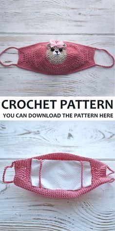 # how to crochet a face mask pattern Crochet Mask, Easy Crochet, Free Crochet, Knit Crochet, Crochet Teddy, Crochet Cocoon, Crochet Bikini, Knitting Patterns Free, Free Pattern