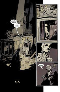 Mike Mignola: Hellboy in Hell Comic Book Artists, Comic Books Art, Comic Art, Mike Mignola Art, Cyberpunk Rpg, Comic Layout, Sketches Tutorial, Comic Panels, Monsters