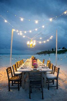 Diner à la plage
