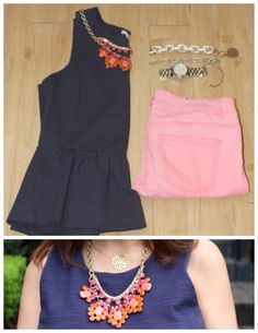 Madewell Peplum with pink denim|Pretty In Her Pearls