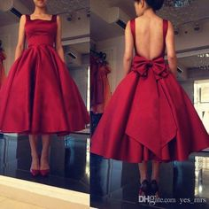 2017 New Vintage Rockabi Homecoming Dresses Square Neck Burgundy Satin Open Back…