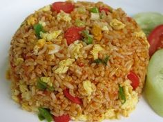 Asian Recipes, Ethnic Recipes, Asian Foods, Nasi Goreng, Indonesian Food, Rice Bowls, Fried Rice, Sushi, Good Food