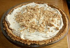 Bring a different kind of pie to the dinner table on Thanksgiving! This Peanut Butter Pie has the right amount of peanut butter without being overwhelming. So good!!