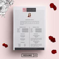 Fashion Designer Resume Template /CV by Resume21 on @creativemarket