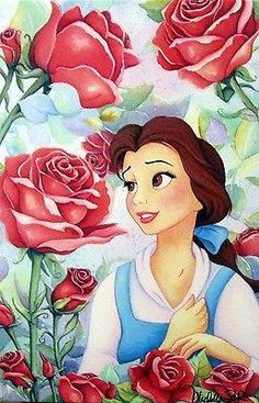 "DISNEY - ""GARDEN OF ROSES"" SIZE: 16.5 X 11 