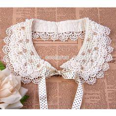 Faux Pearl Lace Flower Peter Pan Detachable Sweater Dress False Collar Choker*
