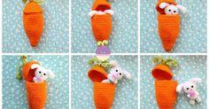 Free Crochet Easter Patterns Amigurumi Food Carrot Surprise Easter Bunny Free Crochet Pattern Free Crochet Easter Patterns Free Crochet Pattern Easter Bunny Mug Cozy Haakmaarraaknl. Free Crochet Easter Patterns Pattern For Cadbury Creme Egg Fre. Crochet Fruit, Crochet Food, Knit Or Crochet, Crochet Gifts, Free Crochet, Easter Bunny Crochet Pattern, Crochet Rabbit, Crochet Patterns Amigurumi, Crochet Dolls