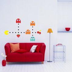 Adesivo de parede Pacman