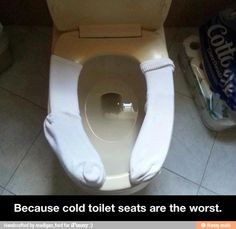 Cold toilet seats are the worst / iFunny :)