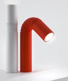 Maxim Maximov's bendy-straw lamp