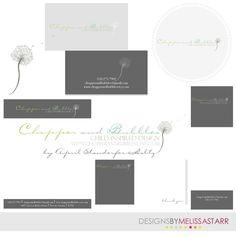 modern dandelion logo/watermark branding package