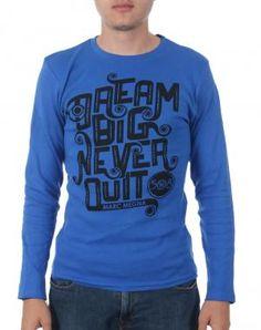 BLUZA BARBATI - ALBASTRU - 19.99 lei Lei, Get The Look, Long Sleeve, Sleeves, Sweaters, Mens Tops, T Shirt, Fashion, Supreme T Shirt