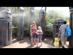 The Tiki Drums at Disney World in the Magic Kingdom are a cool place to be on a hot day.